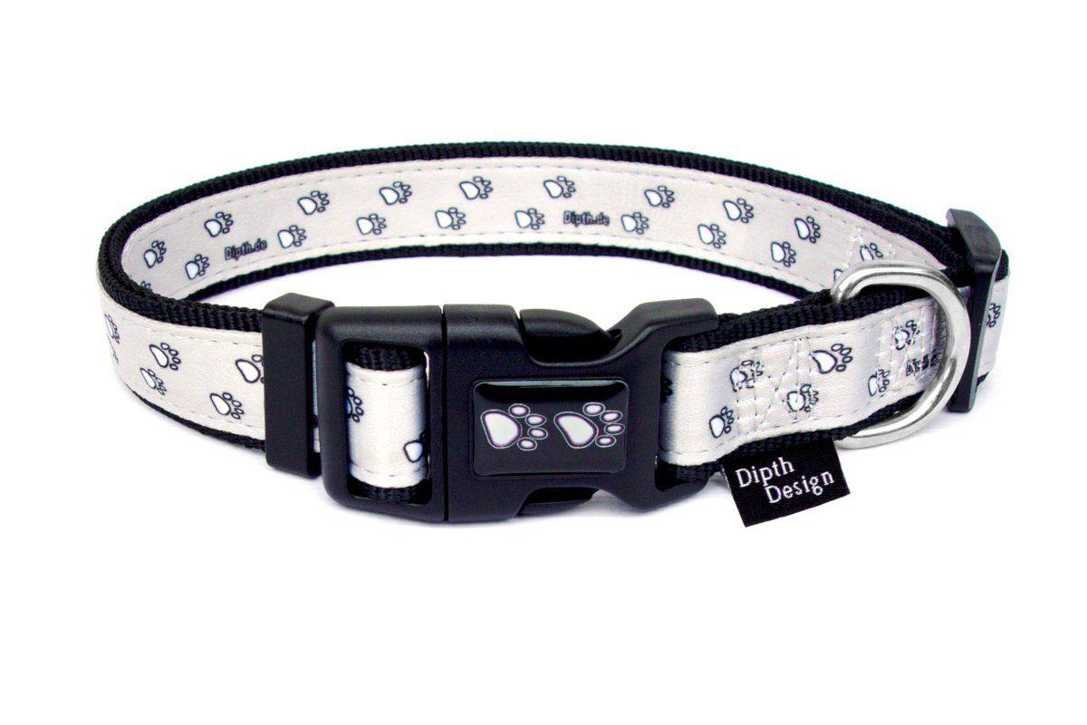 Hundehalsband mit Leine Set Hundehalsbänder Pfoten