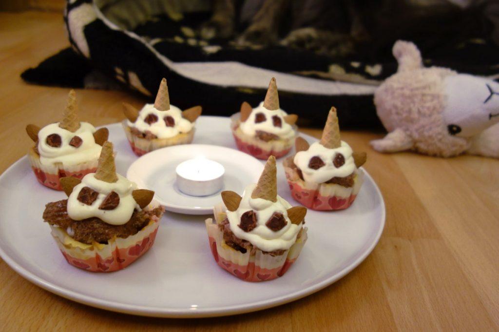 DipthDesign Hundehalsband Shop Hunde-Geburtstagsparty Unicorn Cupcakes