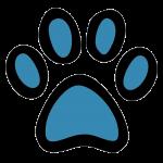 Hundehalsband Shop Pfote blau