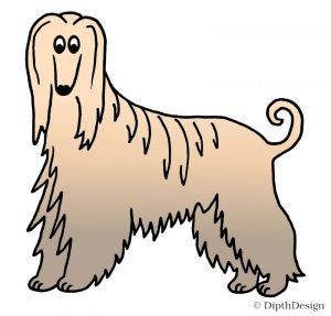 DipthDesign Design Hundehalsband Shop - Fellpflege für Hunde - Fell richtig pflegen - Seidiges Fell Afghanischer Windhund