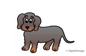 DipthDesign Design Hundehalsband Shop - Fellpflege für Hunde - Fell richtig pflegen - Rauhaar Dackel