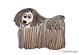 DipthDesign Design Hundehalsband Shop - Fellpflege für Hunde - Fell richtig pflegen - Rasta-locken Puli Komondor