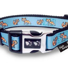 Hundehalsband Pfoten Schnalle Fuchs DipthDesign
