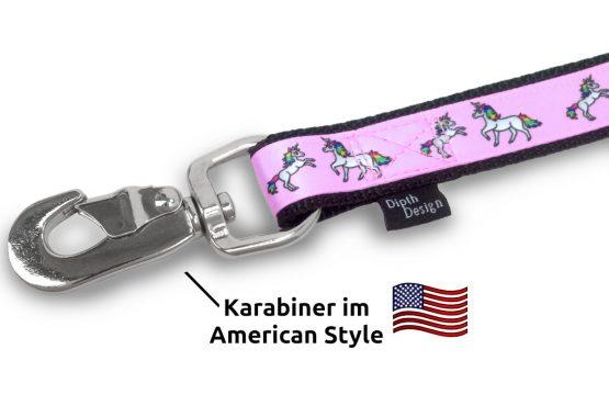 American Karabiner Leine Hundeleine Einhorn DipthDesign