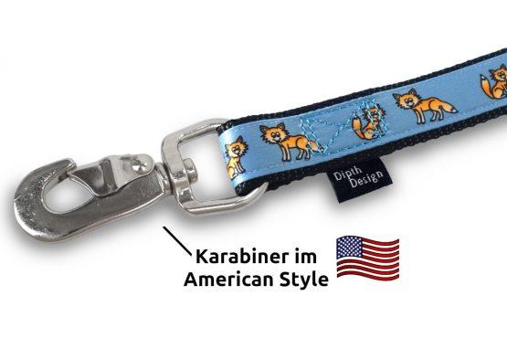 American Karabiner Leine Hundeleine Fuchs DipthDesign