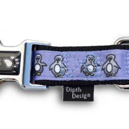 Hundehalsband Pfoten Schnalle Pinguin DipthDesign