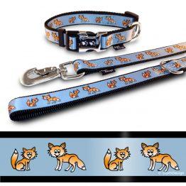 Hundehalsband und Leine Fuchs DipthDesign