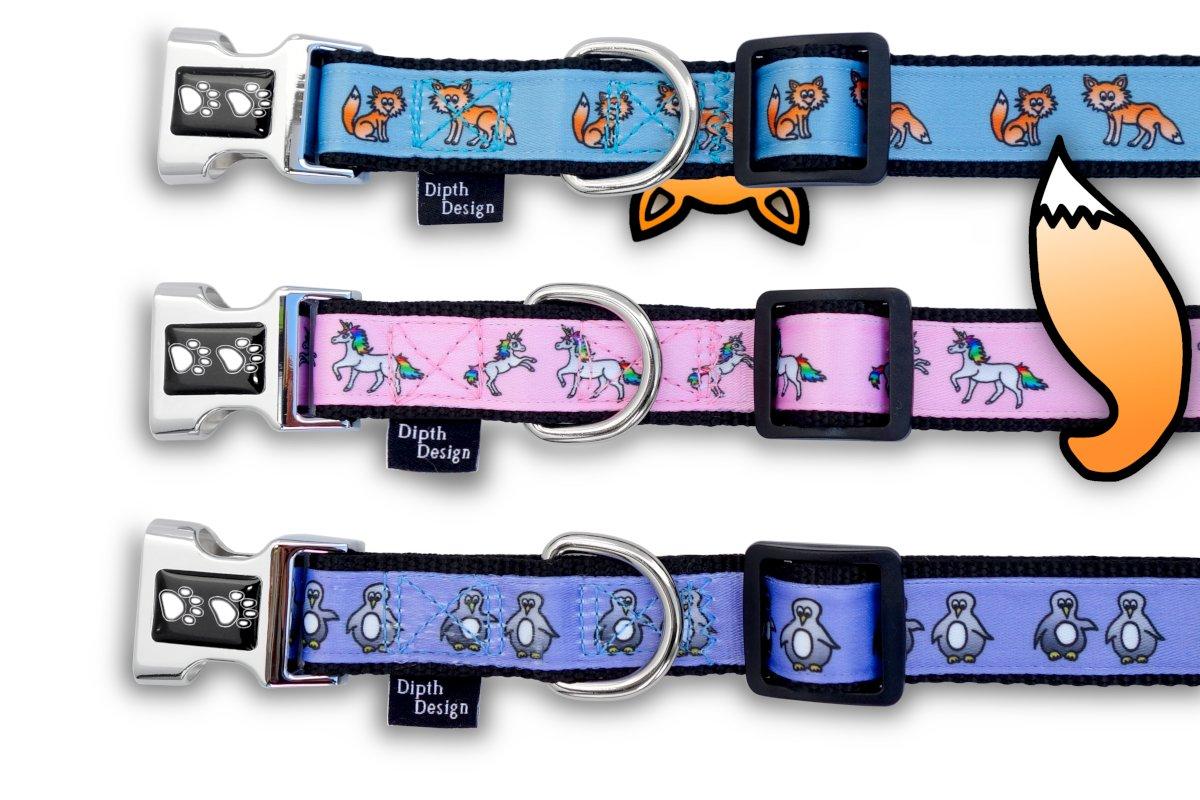 Halsband Hundehalsband Design Fuchs Einhorn Pinguin