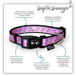 Halsband Hundehalsband Design Pfoten