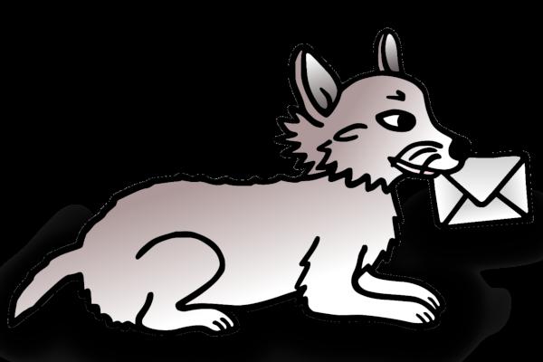 Corgi mit Brief Hundehalsband Hundehalsbänder